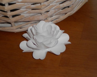 Paper Flower Place Card Holder Set of 10