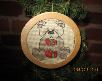 Teddy Bear with Present Christmas Tree Ornament