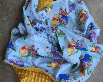 Winnie the Pooh minky blanket
