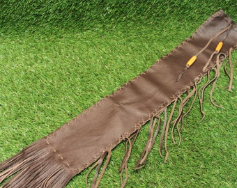 Native American Style Leather Flute Bag / Pipe Bag 62 cm x 12 cm