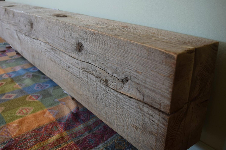 Reclaimed Barn Beam Wood Fireplace Mantel Shelf 78 X