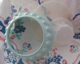 Vintage Aqua Tupperware Gelatin Jello Mold