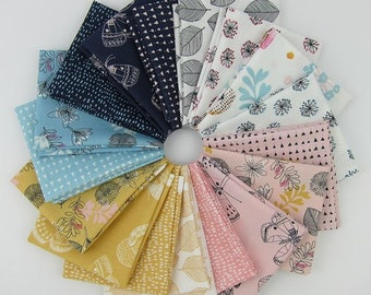 Whisper Fat Quarter Bundle - Victoria Johnson - Windham Fabrics - 17 Fat Quarters