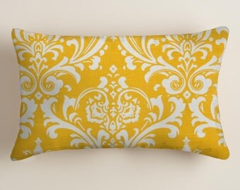 PILLOWS -  Covers -Yellow Pillows - Lumbar  Decorative Throw Pillow -  Accent Pillows  Decor Yellow  Cushion Covers  decorative Pillows