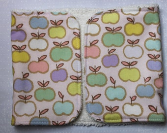Apples Burp Cloth Bird made to order
