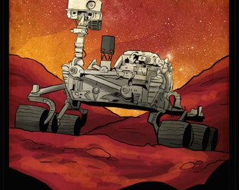 Planetary Expedition Mars Curiosity Rover Poster