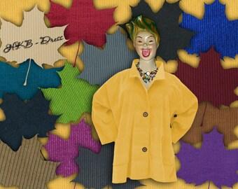 Corduroy, Plus Sizes - US 18 - 34, UK 20 - 36 Layered-look fantastic plus size jacket,yellow