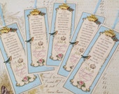 "Set of 5 Daughter of the King Bookmark Princess Party Favor ""ROBINS EGG BLUE"" Sunday School Class Inspirational Gift Strength4theJourney"