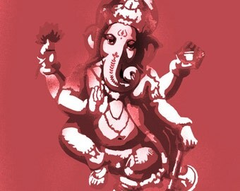 Ganesha Indian Deity stencil art craft decor painting reusable multi layer