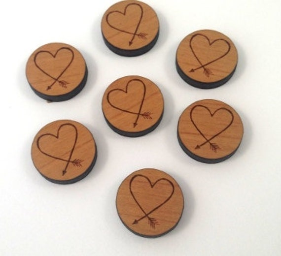 Laser Cut Supplies-8 Pieces.Love Arrow Charms - Laser Cut Wood-Earring Supplies- Little Laser Lab Sustainable Wood Products