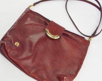 Vintage Etienne Aigner leather oxblood purse