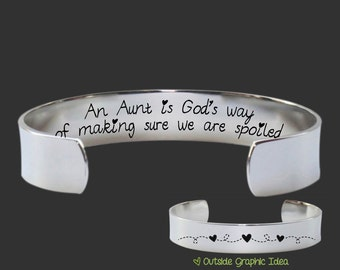 Aunt Gift | Aunt | Gift for Aunt | Gifts for Aunt | Auntie Gift | Aunt Jewelry | Auntie | Mothers Day | An aunt is Gods way | Korena Loves