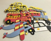 Ready To Ship/DIY Crafts/Transportation Vehicles/Trains/Police Car/Taxi/Fire Truck/Birthday Party/Celebrate/SALE
