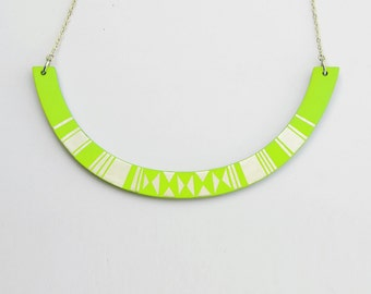 HALO Necklace Lime