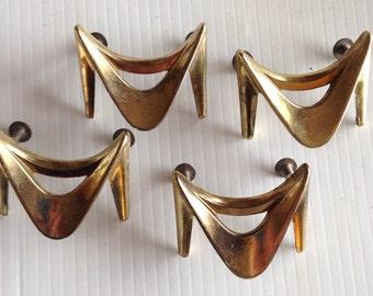 Reserved for KP  4 Vintage Gold Drawer Pull set Handle Cabinet Furniture Hardware Parts
