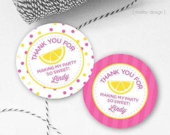 Lemonade Tags Printable Tags Birthday Tags Pink Lemonade Tags Lemonade Favor Tags Lemonade Party Lemonade Favors Lemonade Thank You Tags