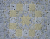 Star baby Quilt with Minky backing