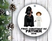 New Dad Ornament, New Dad Gift, New Daddy Gift, New Parents Ornament, New Parent Gift, Babys First Christmas Ornament, Christmas Gift, C136B