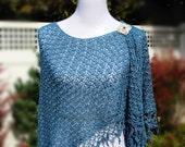 Crochet Pattern Shawl Wrap, Cape Cod, PDF 12-121 INSTANT DOWNLOAD
