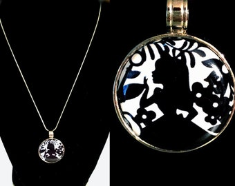 Alice Inspired Magnet Pendant Necklace