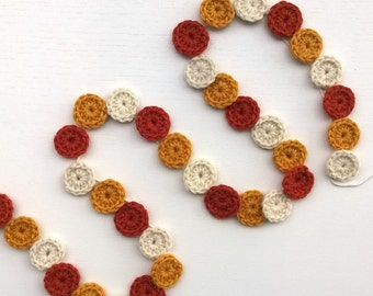 Crochet Garland Halloween Candy Corn / Fall Decor / Housewarming Gift