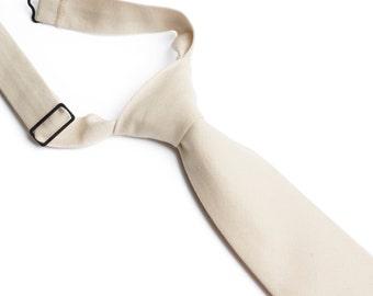 Khaki Neck Tie With Adjustable Strap
