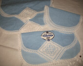Blue cotton Lady Belle.decoration blue office table placemats.