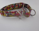 Dog Collar, Wonder Woman, Superhero, dog martingale collar, Nylon free, girl dog collar, pet accesories