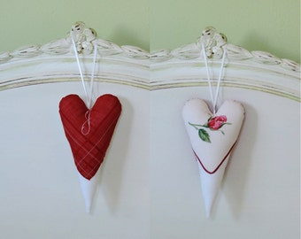 Heart Door Hanger - Red and White Valentine