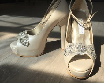 Crystal Bridal shoes -- style Pire-- Made to Order
