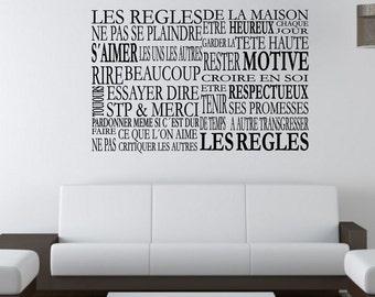 Wall Sticker  Les regles... (2005n)