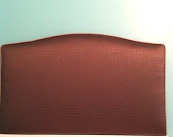 Twin size headboard, dorm headboard, fabric looks like  Alligator skin,  ready to ship SALE