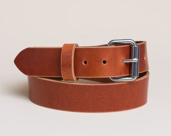 Leather Shop Belt | Whiskey