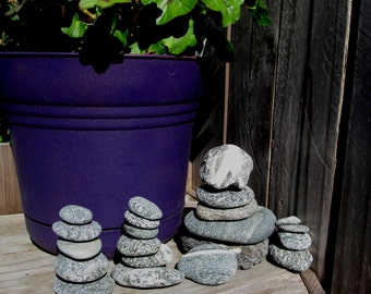 Cairns 21 Natural Beach Rocks - Beach Stone Collection - Zen Rocks - Meditation - Home Decor - Stacking Stones C52