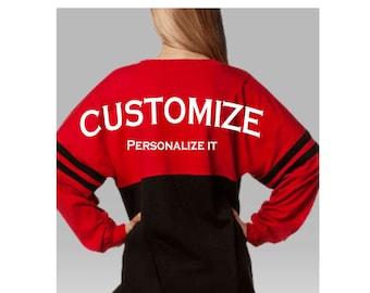 Back to School Special Custom made Boxercraft Pom Pom Jersey, Team Spirit-wear, Game Day, Cheerleading, Personal Customization