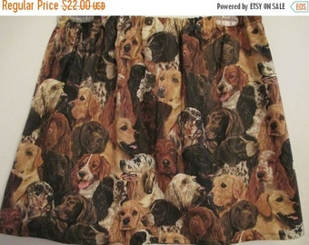40% off SUPER SALE DoGs DoGs DoGs - Handmade skirt