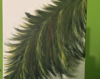 Hand Painted Palm Fronds