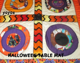 HALLOWEEN,  MINI MATS,  Table Topper,  Home Decor, Holiday Décor,  Gift Item,  Hostess Gift, Quilt, Patchwork