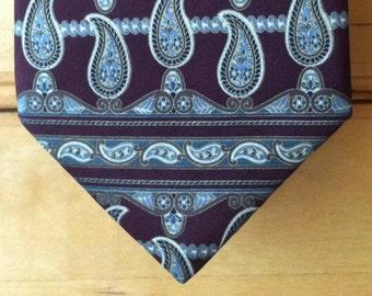 Henry Grethel Designer Men's Paisley Silk Tie - Amazing Classic Traditional Men's Tie - Trad Tie - Boardroom Tie - Executive Tie