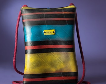 Handmade Backpack // Polymorphic Rubber Bag // Recycled Shoulder Bag