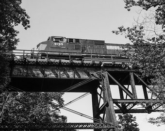 Train Photo, Train Picture, Railroad Photo, Railroad Print, Train Print, Train Bridge Print, Train Bridge Photo, Letchworth Railroad Bridge