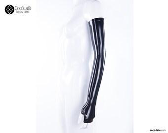 Opera Fingerless Latex Gloves - Ready To Ship