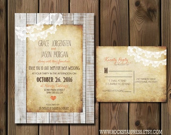 Rustic Wedding Invitation Suite _1227