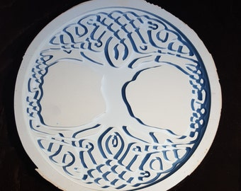 """9.25"""" Celtic Tree of Life (Silicone Mold) plate"""