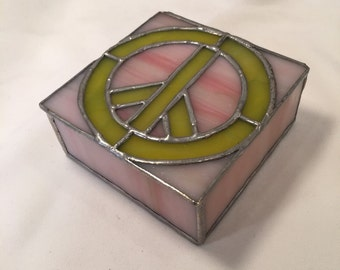 Stained glass peace box