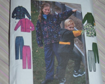 Simplicity 8342  Childs Girls ad Boys Jacket and Pants Sewing Pattern - Size 8 10 12 14 - UNCUT