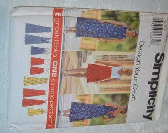 Simplicity 7651  Misses Design your own Dress Sewing Pattern - UNCUT - Size  18 20 22