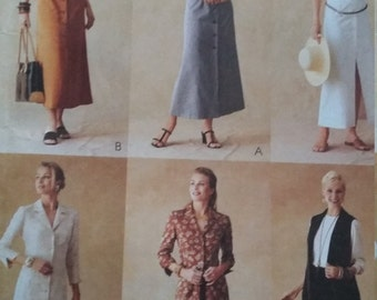 UNCUT and FF Pattern Pieces Vintage McCalls 3254  Sizes 12-14-16 Shirtdress Classic Fit