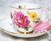 DUCHESS Vintage Tea Cup and Saucer / Made in England / Tea Party /  Shabby Elegance