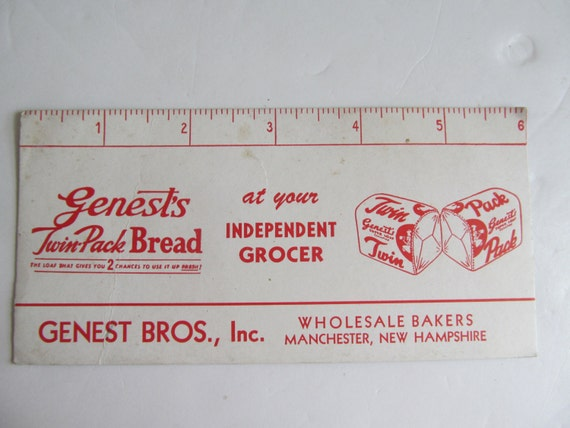 Bakery advertisement genests bread genest bros manchester for Craft stores manchester nh